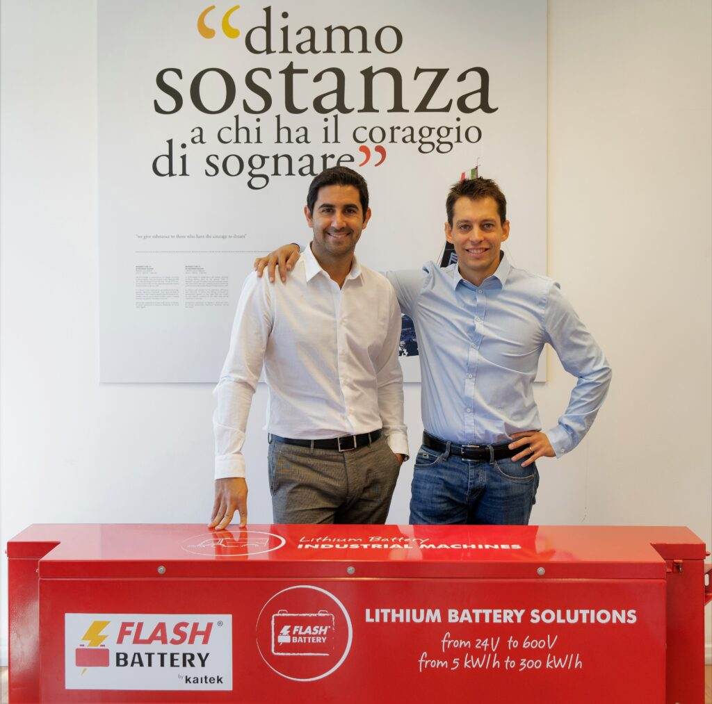 "Marco Righi e Alan Pastorelli, CEO e direttore tecnico di ""Flash Battery"""